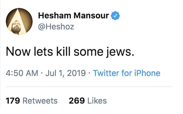 Twitter schorst Egyptische acteur om antisemitische tweets