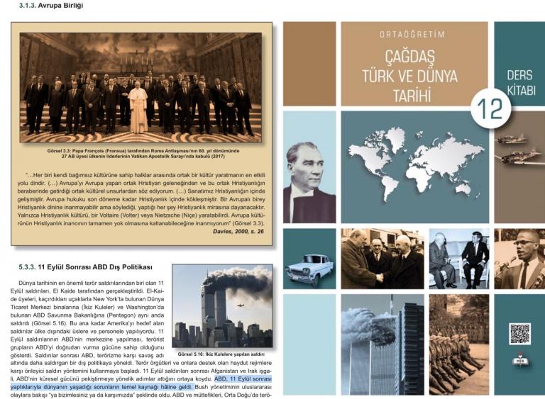 Turks lesboek: '9/11 is deels eigen schuld, NAVO is fout en EU is christelijke club'