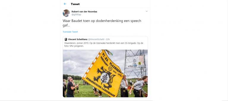 De Vlaamse IJzerwake: opvallend veel jongeren, SS-vlag wappert vrijelijk rond